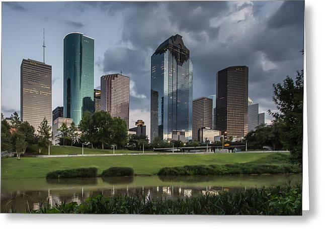 Downtown Reflections Greeting Card