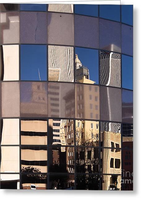 Greeting Card featuring the photograph Downtown Reflections by Lawrence Burry
