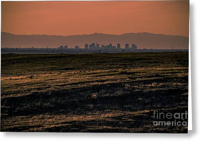 Downtown Sacramento Skyline Greeting Card by Dan Julien