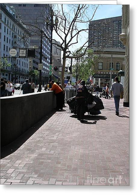 Greeting Card featuring the photograph Downtown San Francisco by Cynthia Marcopulos