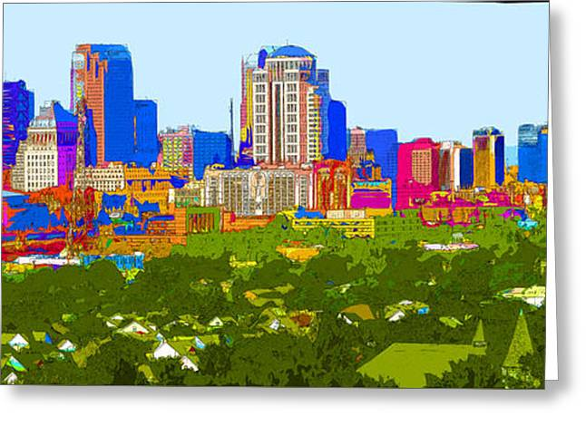 Downtown St. Louis From The Southwest Abstract Greeting Card