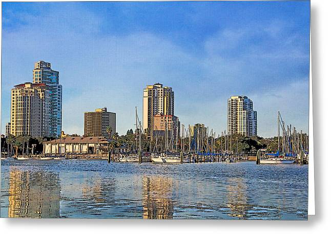 Downtown St. Petersburg Greeting Card by HH Photography of Florida