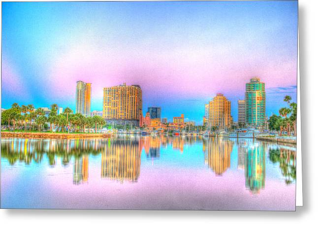 Downtown St. Petersburg Greeting Card by Zane Kuhle