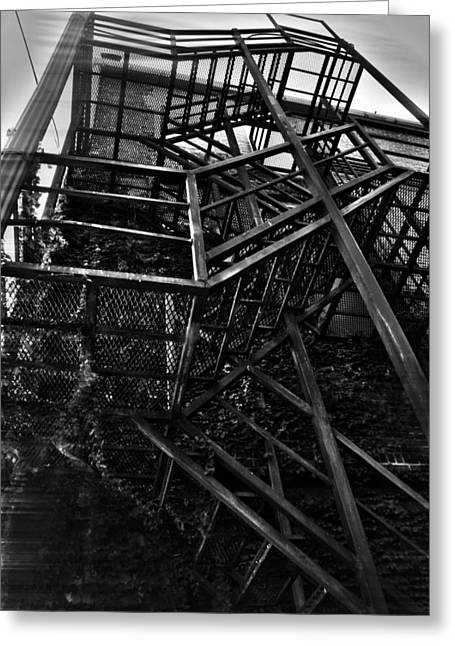 Downtown Stairs Greeting Card by Kenal Louis