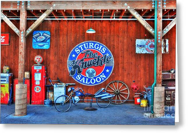 Downtown Sturgis 7 Greeting Card by Mel Steinhauer