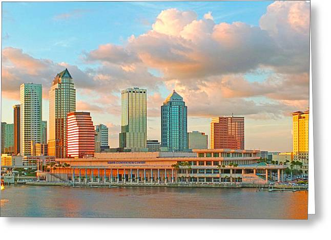 Downtown Tampa Skyline Greeting Card