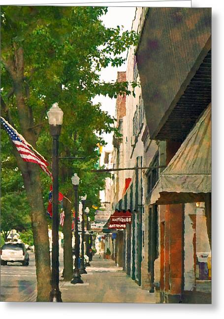 Downtown Usa Greeting Card