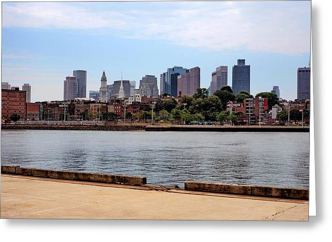 Downtown View In Boston Greeting Card