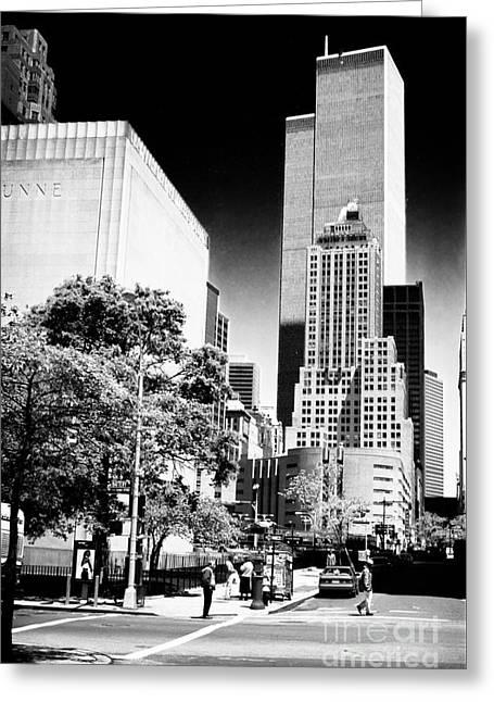 Downtown Views 1990s Greeting Card by John Rizzuto