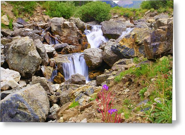 Downward Flow Greeting Card by Mike Schmidt