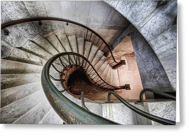 Downward Spiral Greeting Card by Brent Durken
