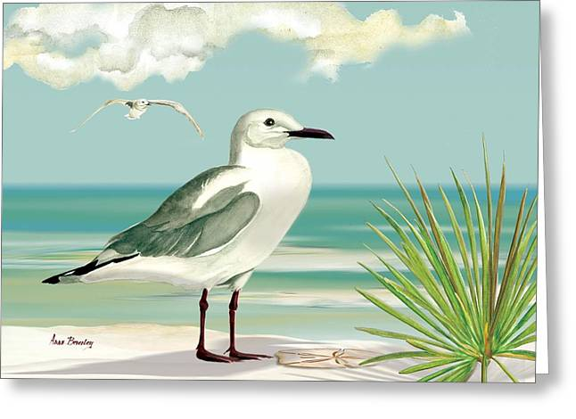 Downwind Greeting Card by Anne Beverley-Stamps