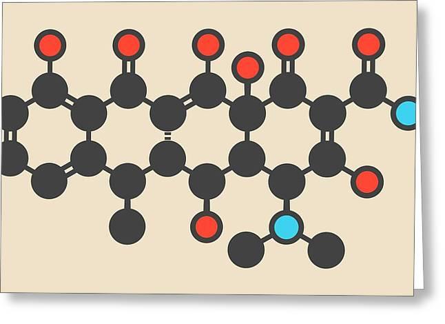 Doxycycline Antibiotic Drug Molecule Greeting Card by Molekuul