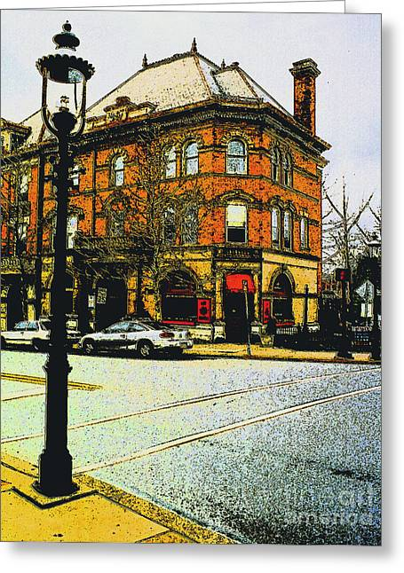 Doylestown -cafe Alessio Greeting Card by Addie Hocynec