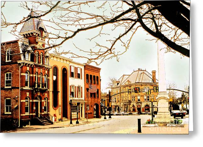 Doylestown-the Intellligencer Building Greeting Card by Addie Hocynec