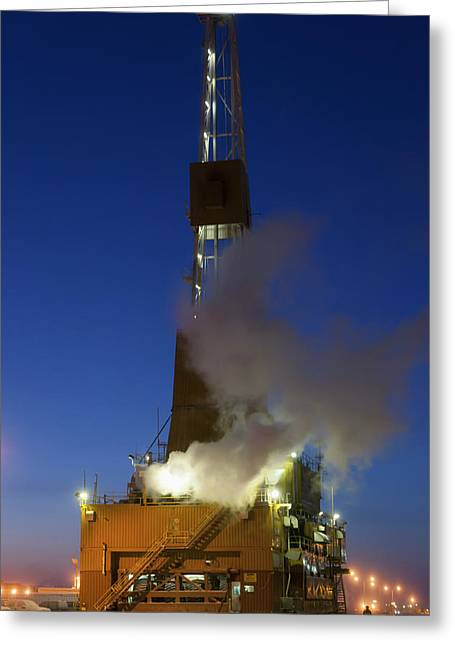 Doyon Oil Rig 14 On The Road Moving Greeting Card