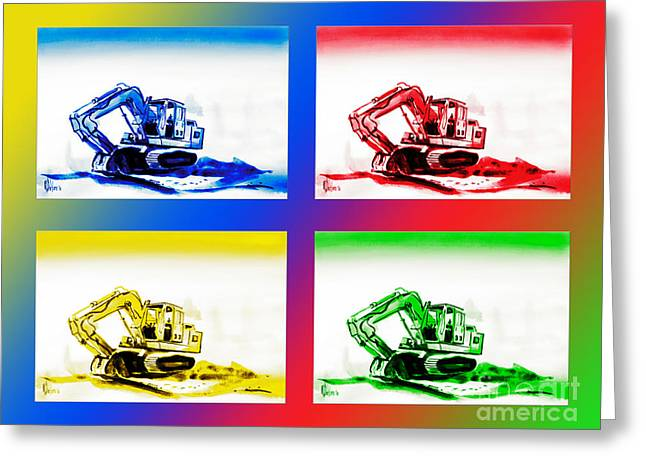 Dozer Mania IIi Greeting Card