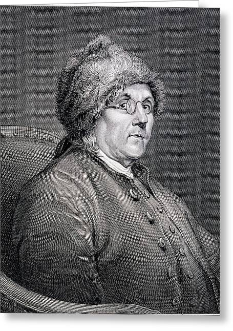 Dr Benjamin Franklin Greeting Card by English School