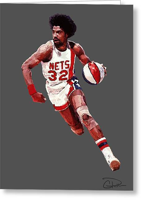 Dr. J Greeting Card by Charley Pallos