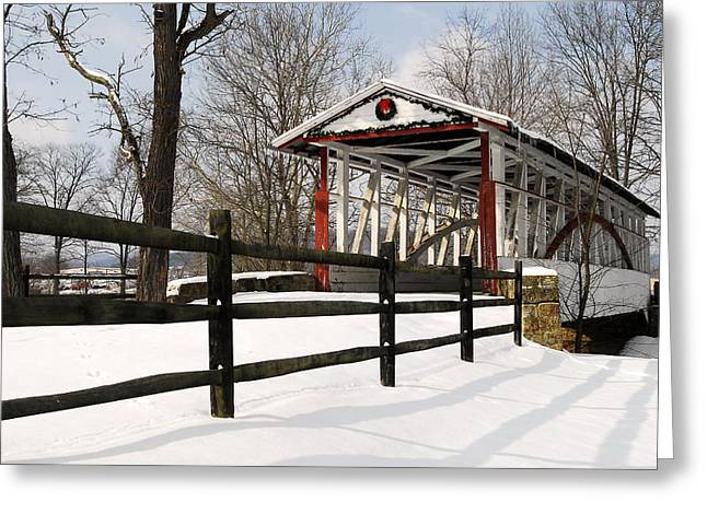 Dr Knisely Covered Bridge Greeting Card by Dan Myers