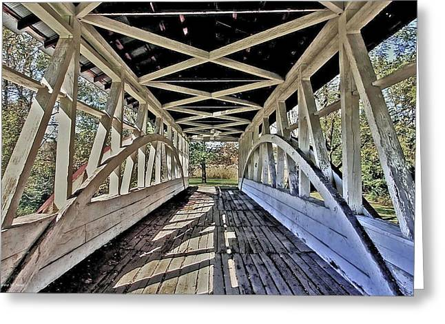 Greeting Card featuring the photograph Dr. Knisely Covered Bridge by Suzanne Stout