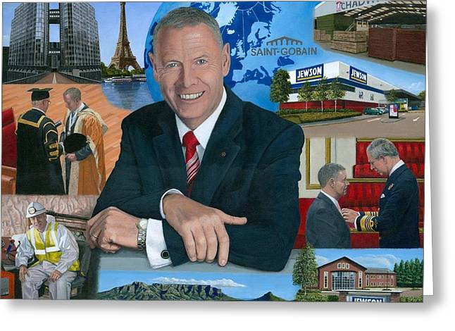 Dr Peter Hindle Mbe Greeting Card by Richard Harpum