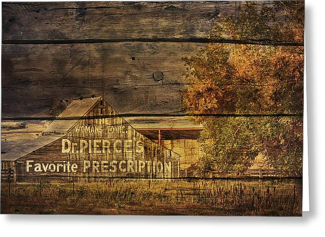 Dr. Pierce's Barn Greeting Card by Priscilla Burgers