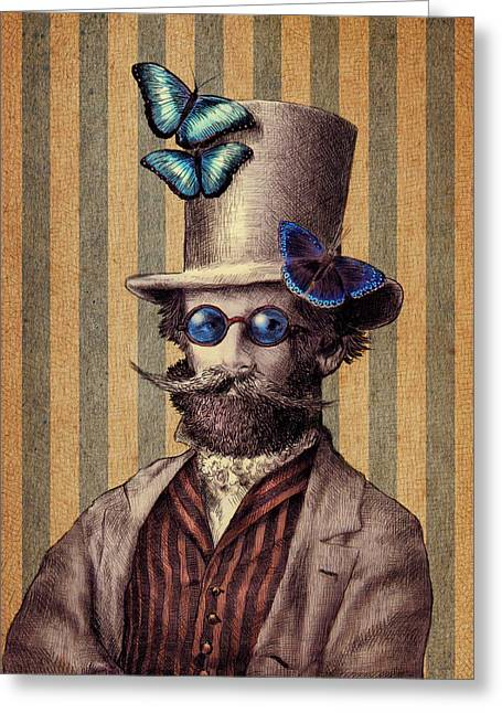 Dr. Popinjay Greeting Card by Eric Fan