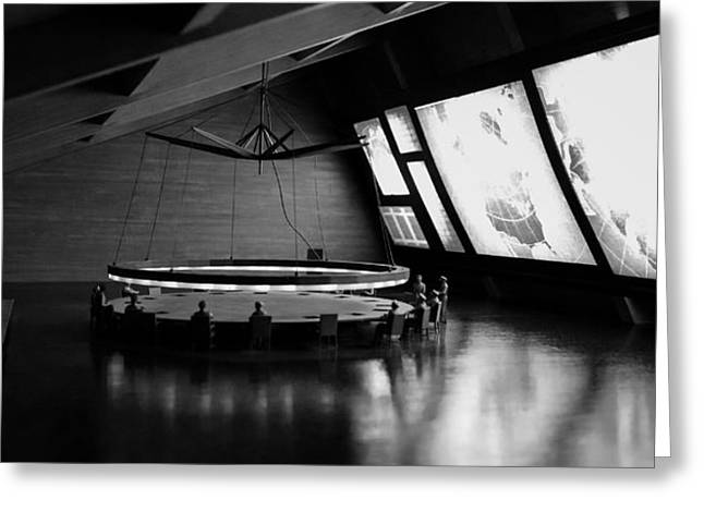 Greeting Card featuring the photograph Dr. Strangelove - Command Center by Michael Hope