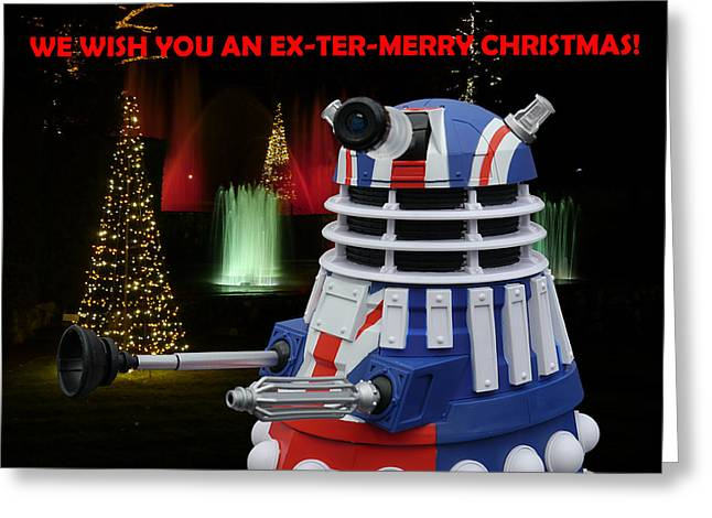 Dr Who - Dalek Christmas Greeting Card by Richard Reeve