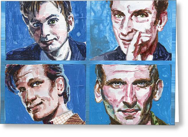 Dr. Who Greeting Card by Ken Meyer