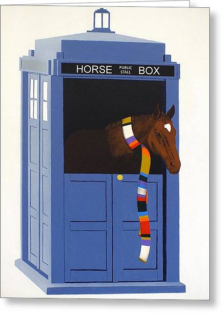 Dr. Whorse Greeting Card by Guy Pettingell
