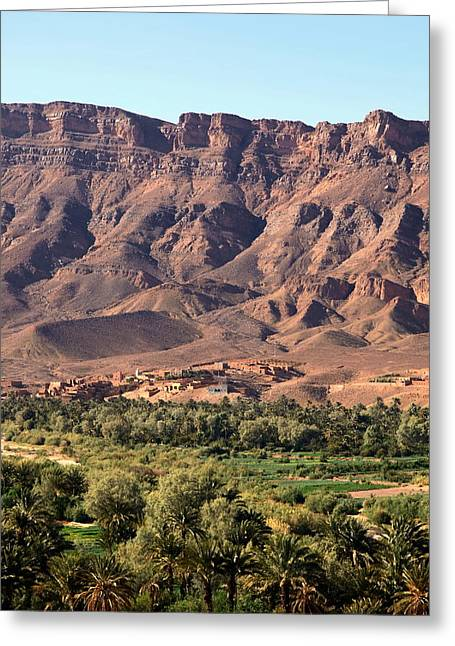 Draa Valley Morocco Greeting Card by Sophie Vigneault
