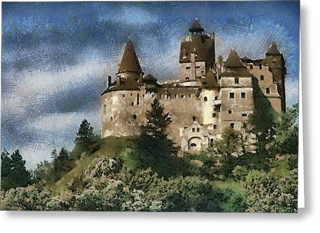 Dracula Castle Romania Greeting Card