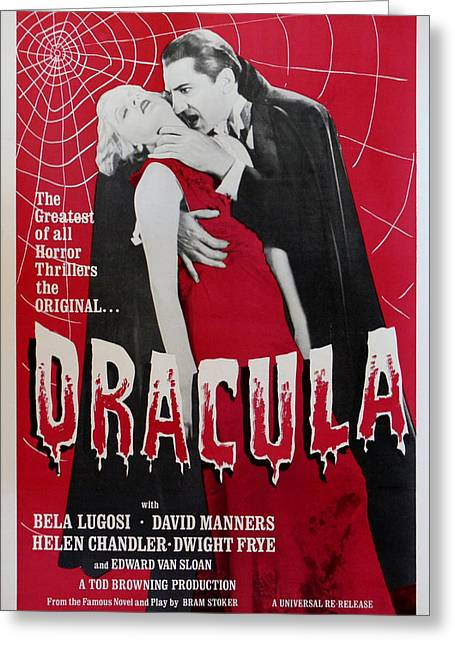 Dracula Greeting Card by Georgia Fowler