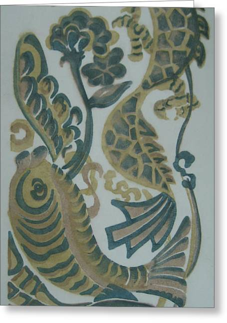 Dragon And Fish Greeting Card
