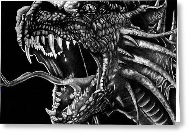 Dragon Greeting Card by Bill Richards