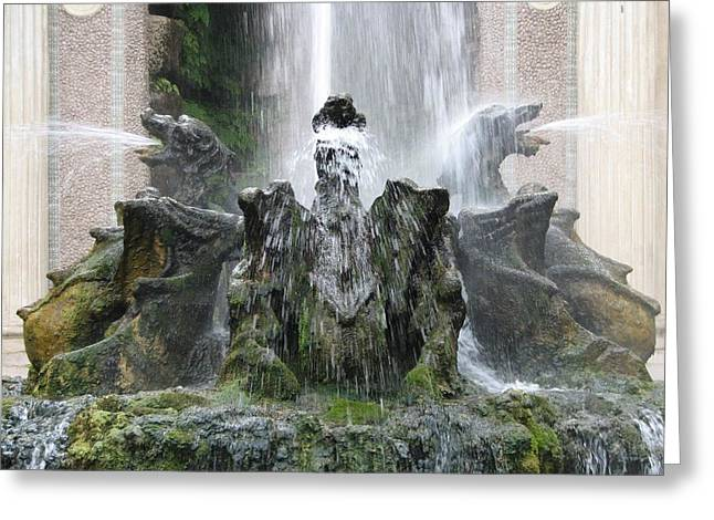 Dragon Fountain Greeting Card