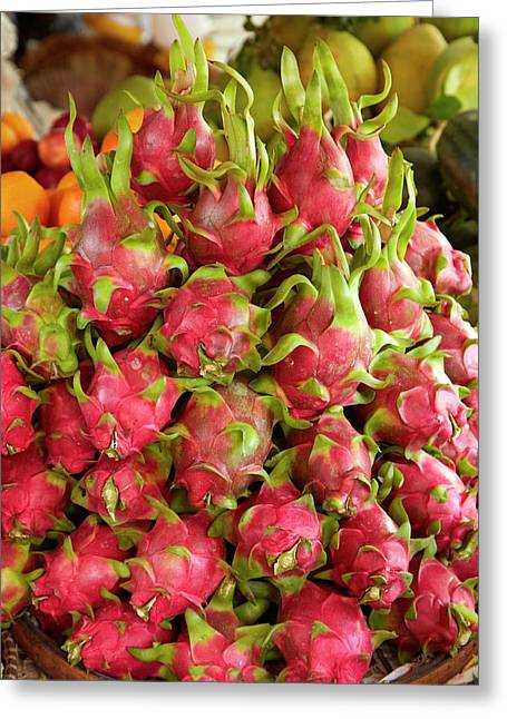 Dragon Fruit, Can Duoc Market, Long An Greeting Card