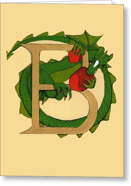 Dragon Letter B Greeting Card