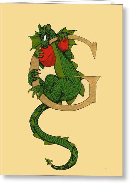 Dragon Letter G Greeting Card
