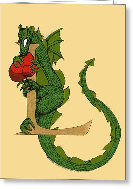 Dragon Letter L Greeting Card