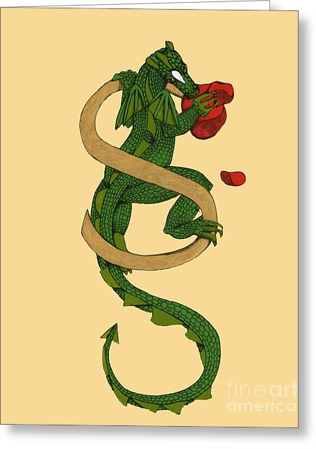 Dragon Letter S Greeting Card