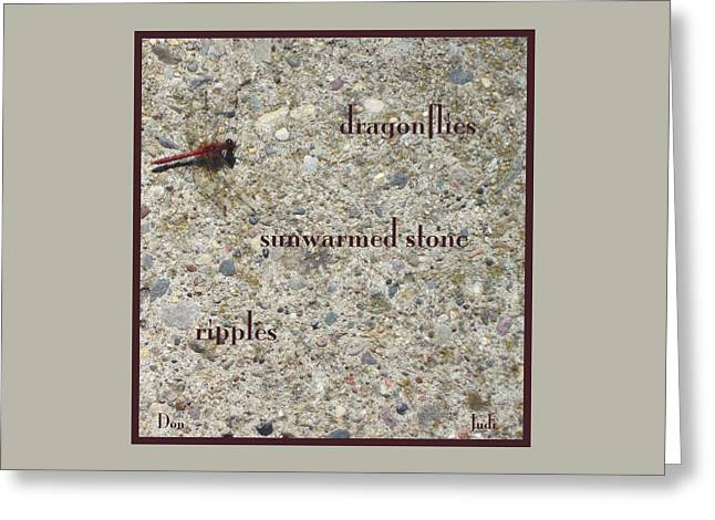 Dragonflies Haiga Greeting Card