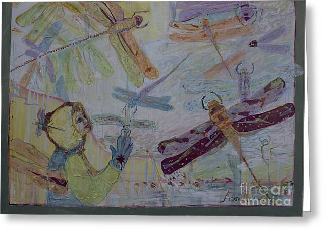 Dragonflies In Winter Greeting Card