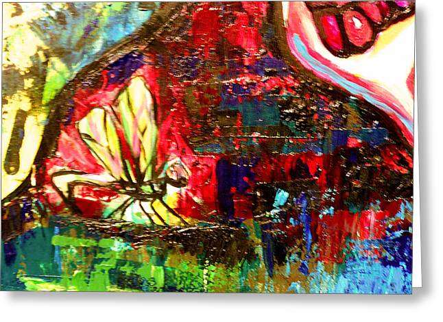 Dragonfly Abstract 2 Greeting Card by Genevieve Esson
