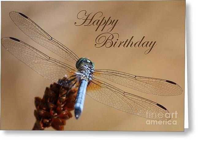Dragonfly Birthday Card Greeting Card by Carol Groenen