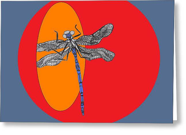 Dragonfly Greeting Card by Cherie Sexsmith