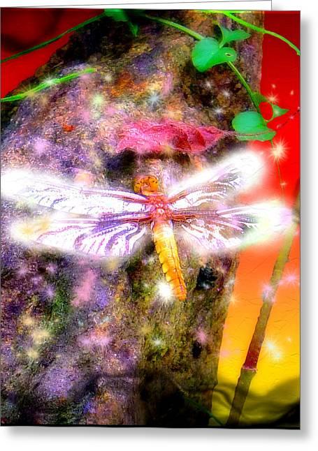 Greeting Card featuring the digital art Dragonfly by Daniel Janda