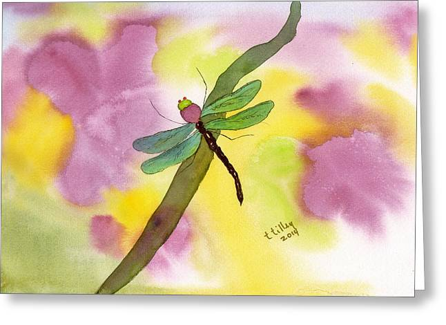 Dragonfly Dream Greeting Card by Teresa Tilley